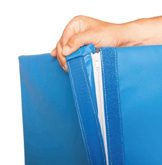 protection sur mesure gros plan système de fermeture par zip avec rabat velcro